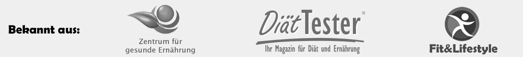 Bekannt aus: Zentrum für gesunde Ernährung, Diät-Tester.de, Fit&Lifestyle